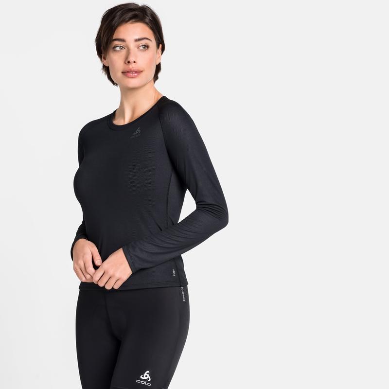 Damen ACTIVE F-DRY LIGHT Base Layer Langarm-Shirt, black, large