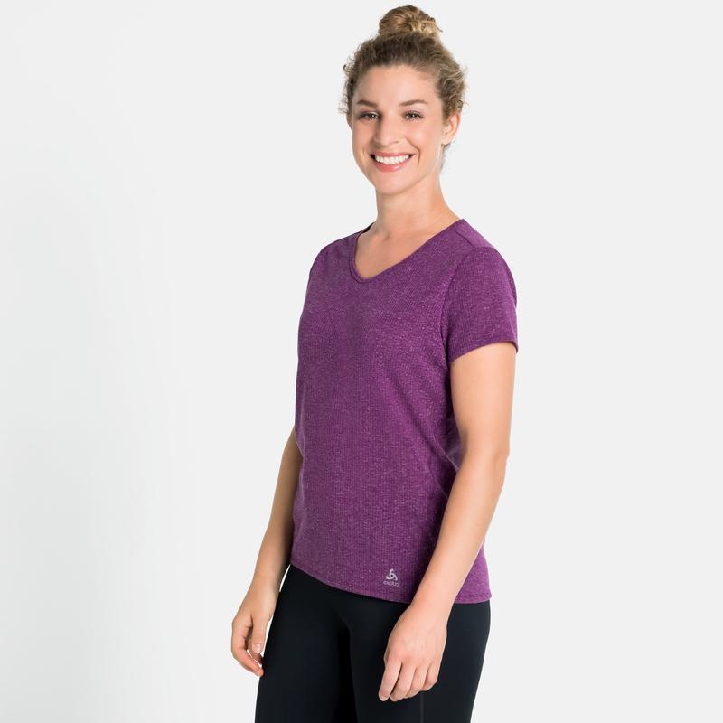 Women's LOU LINENCOOL T-Shirt, charisma melange, large