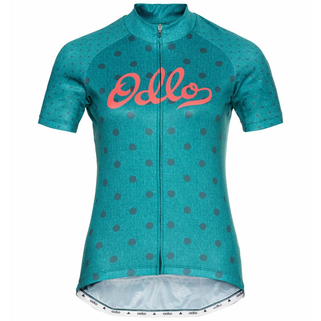 ELEMENT-fietstrui met korte mouwen voor dames, balsam - graphic SS21, large