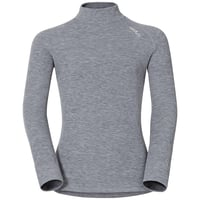 ACTIVE WARM KIDS Long-Sleeve Turtle-Neck Baselayer Top, grey melange, large