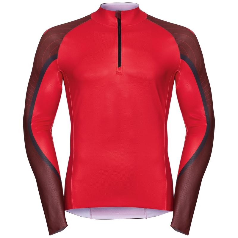 Rennanzug AEROFLOW, fiery red - syrah, large