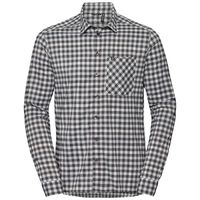 Shirt l/s NIKKO CHECK, odlo silver grey - odlo steel grey - snow white - check, large