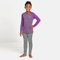 Completo intimo Active Warm Eco per bambini, hyacinth violet - grey melange - stripes, large