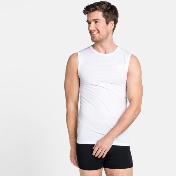 Men's PERFORMANCE X-LIGHT Base Layer Singlet, white, large