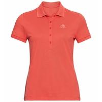 Damen CONCORD Poloshirt, hot coral, large