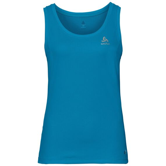 BL TOP Crew neck Singlet F-DRY, blue jewel, large