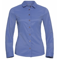 Camicia Kumano Check, amparo blue - odlo concrete grey - check, large