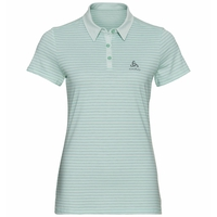 Polo shirt s/s SIGNO, surf spray - creme de menthe - Stripes, large