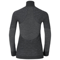 SUW Top Turtle neck 1/2 zip l/s Natural + X-Warm, black melange, large