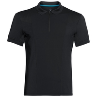 Polo s/s SAIKAI CERAMICOOL, black, large