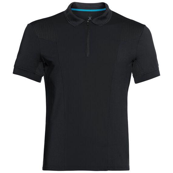 SAIKAI CERAMICOOL kurzärmeliges Polohemd, black, large