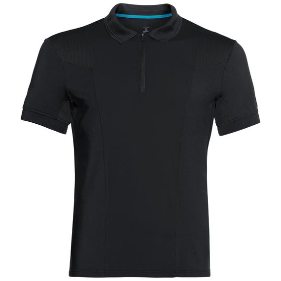 Polo s/s SAIKAI CERAMICOOL, black, large