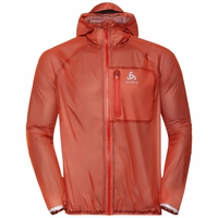 Men's ZEROWEIGHT DUAL DRY Waterproof Running Jacket, mandarin red, large