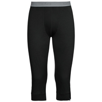 Natural 100 Merino Warm baselayer pants 3/4 men, black, large