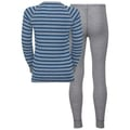 Set ACTIVE ORIGINALS Warm Kids, grey melange - energy blue - stripes, large