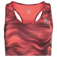 ESSENTIAL-hardloopbralette met print voor dames, siesta - graphic SS21, large