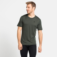 Men's NATURAL 100% MERINO WARM Base Layer T-Shirt, climbing ivy, large
