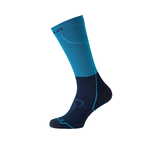 Socks long CERAMIWARM, blue jewel - diving navy, large