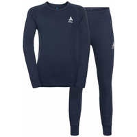 Completo Base Layer NATURAL 100% MERINO WARM per bambini, diving navy - diving navy, large