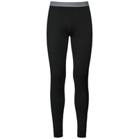 Natural 100 Merino Warm Leggings baselayer uomo, black, large