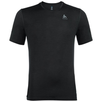 Men's NATURAL 100% MERINO WARM Baselayer T-Shirt, black - black, large