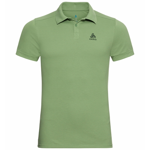 Herren NEW TRIM Poloshirt, green eyes, large