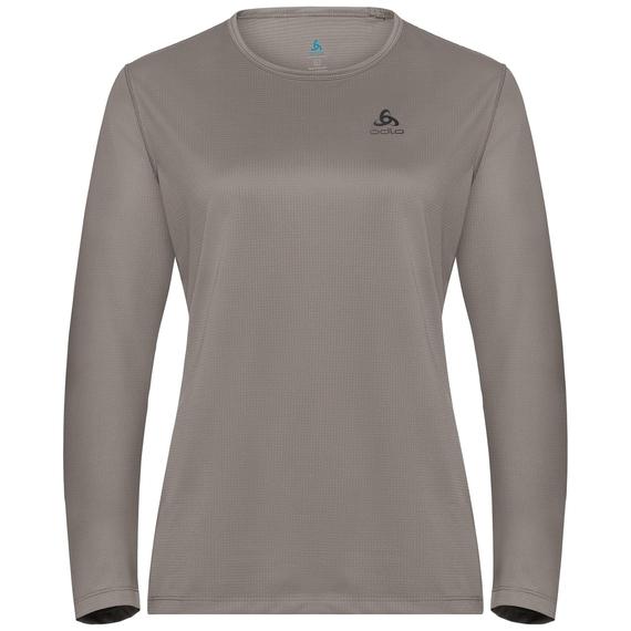 T-shirt l/s crew neck AMBER LO, cinder, large