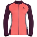Midlayer met volledige rits SNOWBIRD, hot coral - pickled beet - grey melange, large
