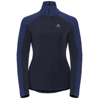 Damen ROYALE Midlayer mit 1/2 Reißverschluss, diving navy - sodalite blue - stripes, large