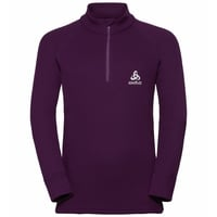 Shirt s/s turtle neck 1/2 zip WARM, plum purple, large