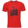 KUMANO LOGO Baselayer T-Shirt, fiery red - placed print SS18, large