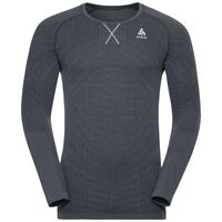 BL Top Crew neck l/s BLACKCOMB Light, black - odlo steel grey, large