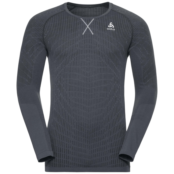 BL Top BLACKCOMB LIGHT langärmeliges Oberteil mit Rundhalsausschnitt, black - odlo steel grey, large