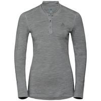 SUW TOP Stand-up collar l/s NATURAL 100% MERINO WARM, grey melange - grey melange, large