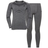 Men's PERFORMANCE EVOLUTION Base Layer Set, grey melange, large
