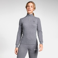 Women's ACTIVE WARM 1/2 Zip Turtle-Neck Long-Sleeve Base Layer Top, grey melange, large