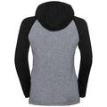 Sous-vêtement technique T-shirt manches longues et capuche ACTIVE WARM KIDS, black - grey melange - placed print FW19, large