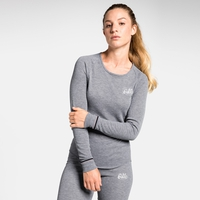 Women's ACTIVE WARM ORIGINALS Long-Sleeve Base Layer Top, grey melange, large