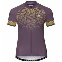 Women's ELEMENT PRINT Short-Sleeve Cycling Jersey, vintage violet - sulphur - poseidon, large