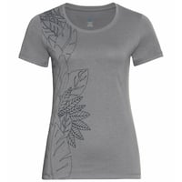 T-shirt Concord Element da donna, grey melange - flower leaf print SS20, large