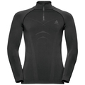 Shirt l/s turtle neck 1/2 zip EVOLUTION WARM, black - odlo graphite grey, large