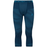 Naadloze onderkleding Driekwartbroek PERFORMANCE BLACKCOMB, poseidon - blue jewel - atomic blue, large