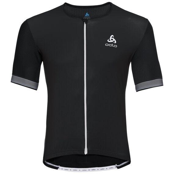 Shirt s/s full zip CERAMICOOL X-LIGHT, black, large