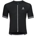 CERAMICOOL X-LIGHT kurzärmeliges Shirt mit durchgehendem Reißverschluss, black, large