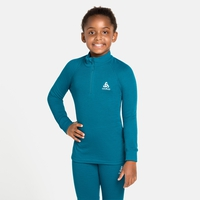 ACTIVE WARM ECO KIDS Long-Sleeve Half-Zip Turtleneck Top, tumultuous sea, large