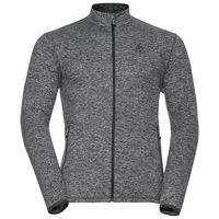 Midlayer full zip ALAGNA, black melange, large