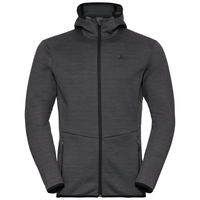 Men's HAVEN X-WARM Midlayer Hoody, odlo graphite grey, large