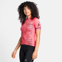 Women's ZEROWEIGHT CERAMICOOL Short-Sleeve Cycling Jersey, siesta - graphic SS21, large