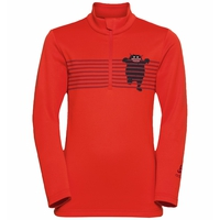 CARVE KIDS LIGHT 1/2 Zip Midlayer, orange.com - graphic FW20, large