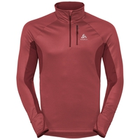 Men's BLAZE CERAMIWARM 1/2 Zip Midlayer, syrah - fiery red - stripes, large
